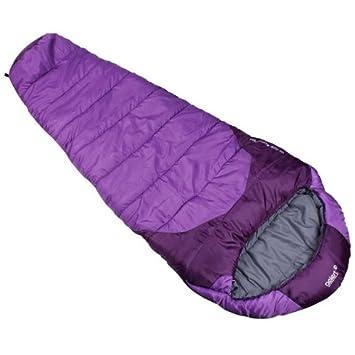 Saco de dormir con capucha Hibernate 400 de Gelert, rápido de empacar, para camping, senderismo, viaje, color morado, tamaño 78106624000: Amazon.es: ...