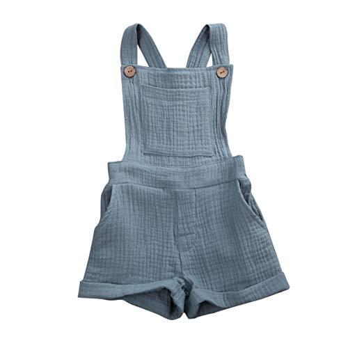 N / A Whitzard baby-overall van katoen en linnen, voor zuigelingen, kruipbroek, kinderen, jongens, meisjes, tuinbroek…