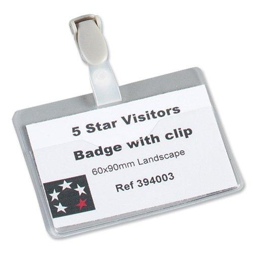 5 Star 8255-19 Namensschilder quer 60x90 mm, Inh.25