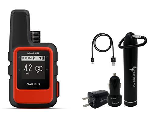- Garmin InReach Mini Handheld Iridium Satellite Communicator and Wearable4U Ultimate Power Pack Bundle (Orange)