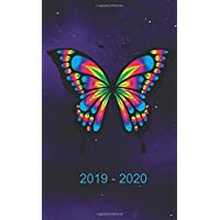 "2019 - 2020: Pocket  Two Year Monthly Calendar : 24-Month Planner ( Size : 4.0"" x 6.5"", January 2019 - December 2020), Notes and Phone book, U.S. ... Butterfly (Mini Calendar & Journal Workbook )"