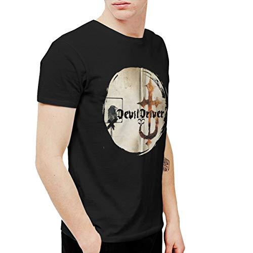 QLCDFAQQKN Men's Devil Driver Athletic Performance Cotton Short Sleeve T-Shirt 4XL ()