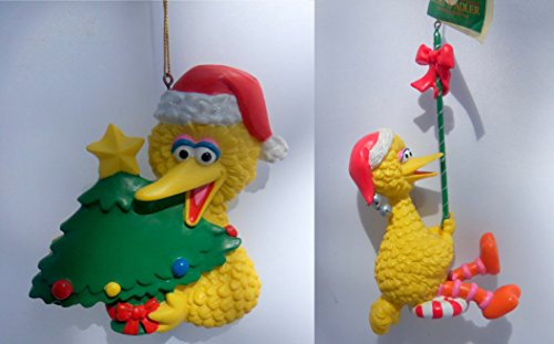 Set of 2 Sesame Stree Big Bird Christmas Ornament
