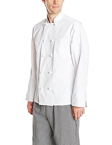 Uncommon Threads Unisex Classic Knot Button Chef Coat, White, Large from Uncommon Threads