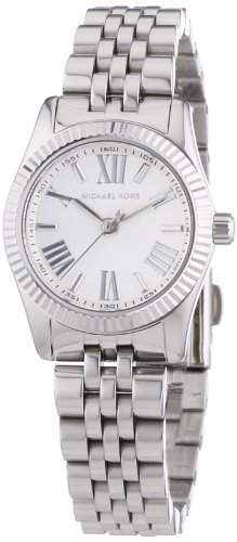 Michael Kors Lexington White Dial Stainless Steel Ladies Watch MK3228 (White Dial Watch Stainless)