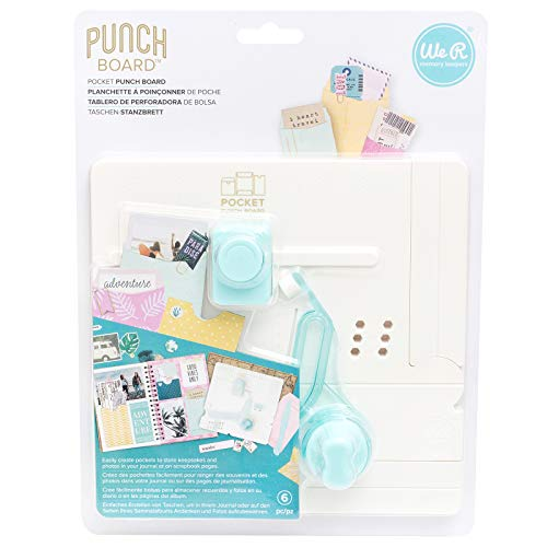 We R Memory Keepers 660484 Pocket Punch Board Multicolor