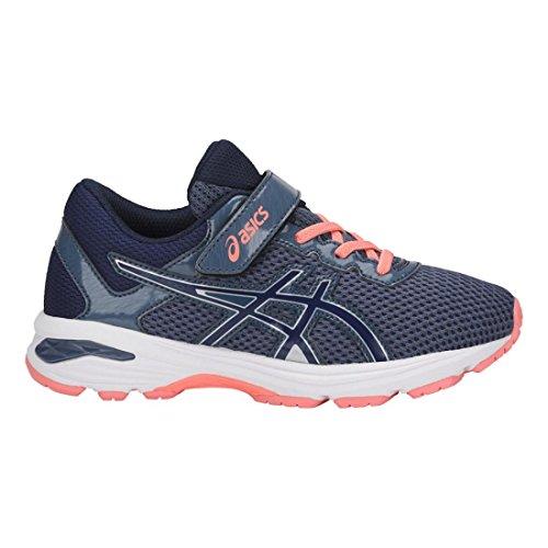 Asics Unisex-Kind Gt-1000 6 PS Schuhe Smoke Blue/Indigo Blue/Begonia Pink