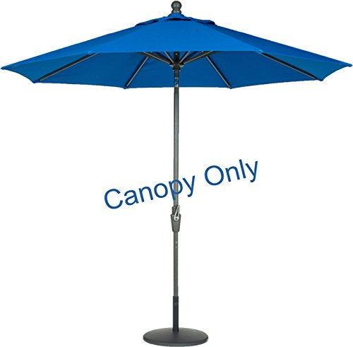 Pacific Blue Sunbrella (Amauri Outdoor Living The Market Collection Universal Fit Modern 9ft Sunbrella Fabric Replacement Umbrella Canopy, Pacific Blue)