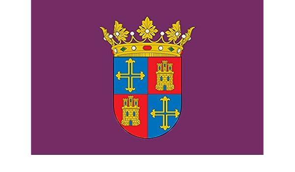 magFlags Bandera Large Municipal de Palencia Castilla y León Nada Cierto Hay sobre los orígenes de la Bandera Morada de Palencia | Bandera Paisaje | 1.35m² | 90x150cm: Amazon.es: Jardín