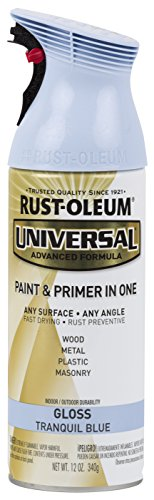 Rust-Oleum 284961 Universal All Surface Spray Paint, 12 oz, Gloss Tranquil Blue (Brent Wicker)