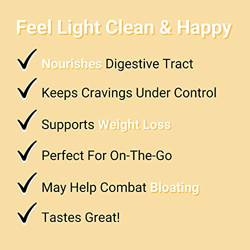 Smart Pressed Juice Pineapple Chia Cleanse | Prebiotic Superfood Plant Based Fiber with Vegan Probiotics & Enzymes | Keto-friendly Detox | Constipation Relief | Made in the USA | 30 Servings 2