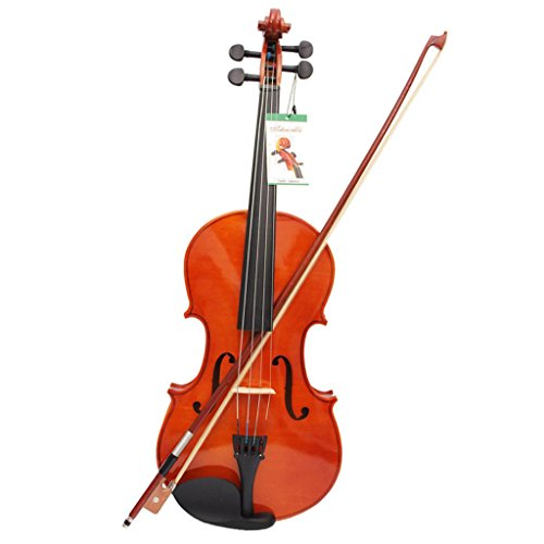 MagiDeal Maple Viola with Case String Bow Shoulder Rest Pad Resin Cleaning Cloth Set by MagiDeal
