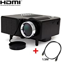 MaxLum® 24W Mini Multimedia LCD Image System LED Projector with SD / USB / AV / VGA / HDMI Port with 1.5M HDMI Cable