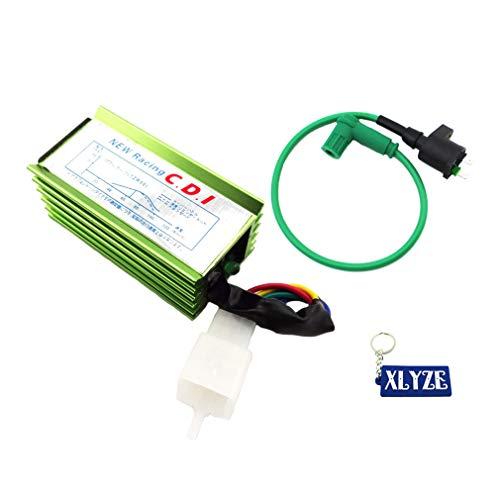 XLYZE Green Racing Ignition Coil + Aluminum 5 Pin AC CDI Box For 50cc 70cc 90cc 110cc 125cc 140cc 150cc Pit Dirt Bike Motorcycle
