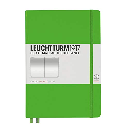 Leuchtturm1917 Medium A5 Ruled Hardcover Notebook [Fresh Green] - 249 Numbered Pages ()