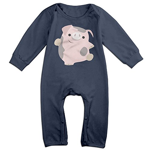 [KIDDOS Baby Infant Romper Cute Pig Long Sleeve Jumpsuit Costume,Navy 6 M] (Odd Squad Costume)