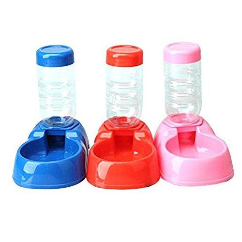 Dispensador de agua para mascotas - TOOGOO(R)Dispensador automatico de agua para Gatito Gato Perrito Perro mascota Botella Alimentador Cuenco Plato de ...