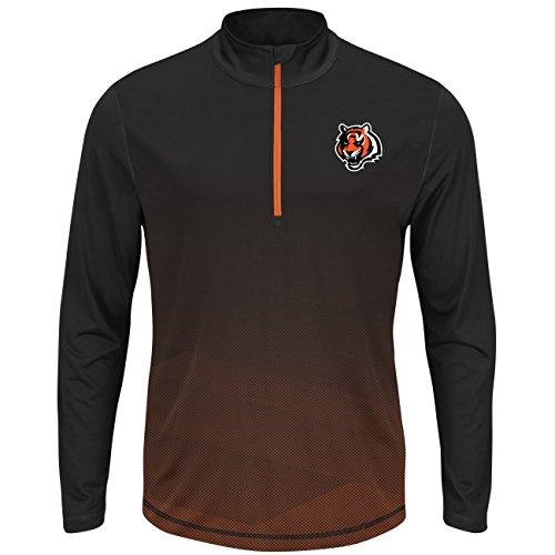 Cincinnati Bengals Intimidating Half Zip Pullover Synthetic Windshirt (X-Large) (Windshirt Mens Official)