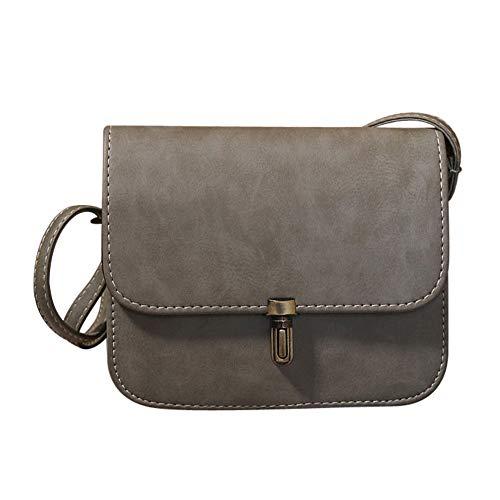 BaZhaHei Women Satchel Handbag Messenger Women Gray Women Solid Lock Lady Bullet Handbags Tote Leather Bags Sexy Bag Shoulder Crossbody Bag Bag Bag rpArwq