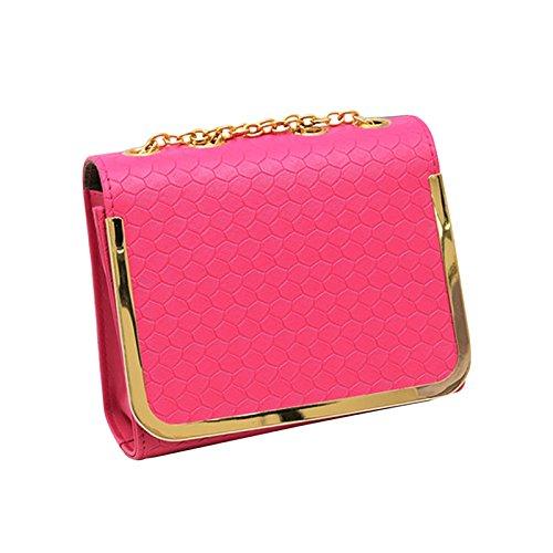 de mensajero de bolsa color las vendimia Hombro mujeres del PU bolsos Hrph pequeña de del la Rosado la de manera los caramelo cuero bolso del de OSwwvBExq