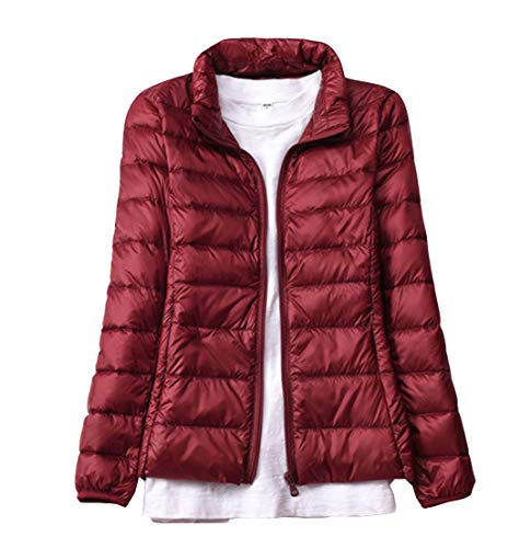 Winered Jacket Light Packable Women Fit Down Casual Padded Slim Weight Coat Short Ultra Outdoor UwwWOSpqT
