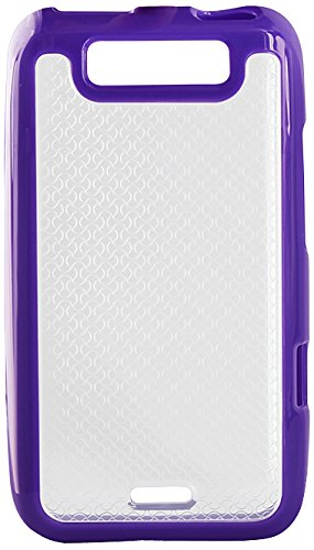 Reiko PP-LGLS840PP Premium Durable TPR Gummy Protective Case for LG Viper LG LTE - 1 Pack - Retail Packaging - Purple (Lg Viper Phone Cases)