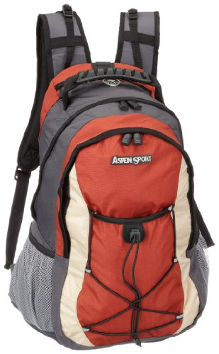 AspenSport Rucksack Algier, grey/red, 50 x 33 x 18 cm, 35 Liter, AB05P08