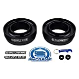 "Supreme Suspensions - Front Leveling Kit for 1994 - 2018 Dodge Ram 1500 2.5"" Front Lift Spring Spacers 2WD (Black)"