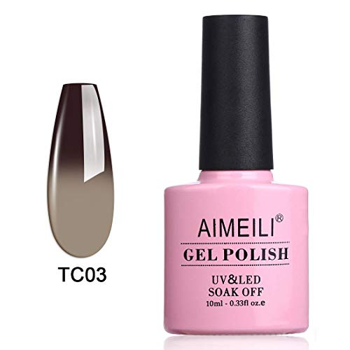 AIMEILI Soak Off UV LED Temperature Color Changing Chameleon Gel Nail Polish - Old Fashioned (TC03) 10ml -