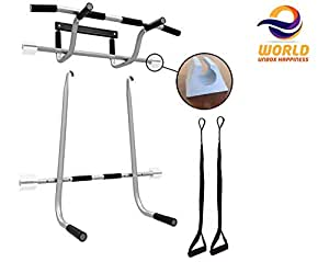 EWORLD® Health & Fitness Pull up Bar, Chin up Bar Door Way Door Mounts for Home, Gym, Fitness, Exercise for Men and Women