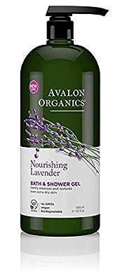 Avalon Organics Bath & Shower Gel, Nourishing Lavender, 12 Fluid Ounce
