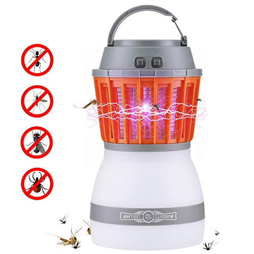 Fenvella 2018 Newest Bug Zapper,2 in 1 Fly Zapper with Camping Lantern,Waterproof,Portable Mosquito,Insect Killer for Indoor&Outdoor by Fenvella