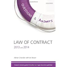 Q and A Revision Guide Law of Contract 2013 and 2014