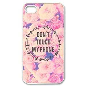 kimcase Custom Don't touch my phone Cover Case for iPhone 4,4S