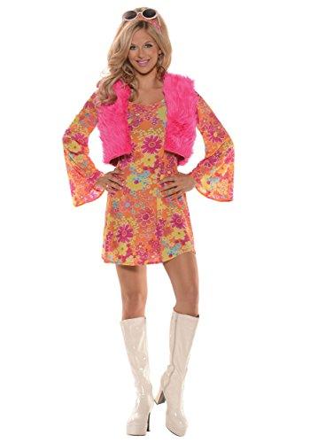 Women's Pretty in Pink 70's Costume Small (70 Costume Ideas)