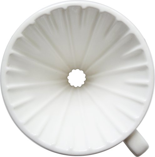 Kuissential Ceramic Coffee Dripper, Filter Cone, Size 02 (Includes 40 filters & coffee scoop)