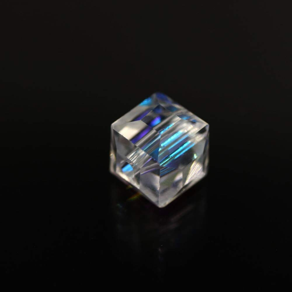 100pcs 4mm Crystal Beads Square Loose Spacer Jewelry Findings Light Emerald HC