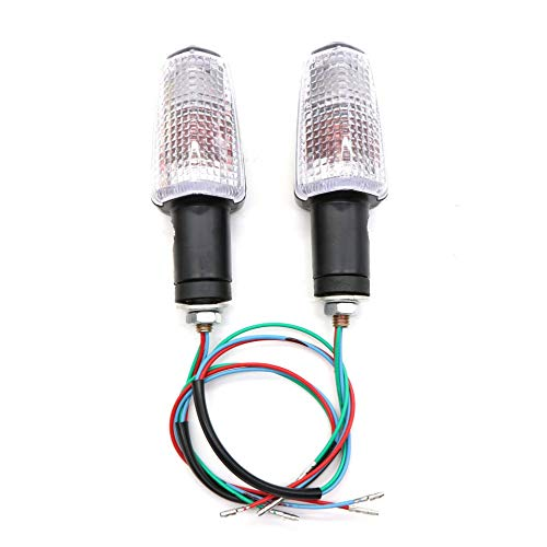 PinShang For HONDA CB400 CB1300 CB250 CB600 Motorcycle Modified Front Rear Turn Signal Indicator Warning Light Lamp White lamp housing:
