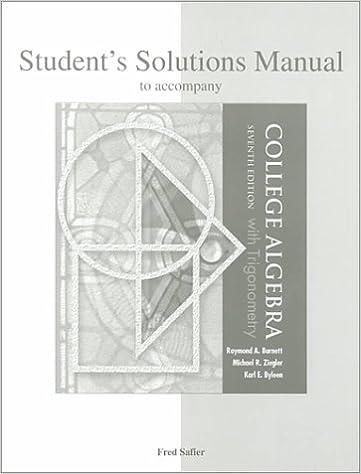 College algebra and trigonometry, 7th edition cengage.