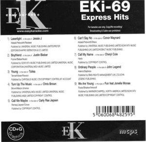 Easy Karaoke EK EKi-69 EKi69 Express Hits Karaoke Disc, used for sale  Delivered anywhere in Canada