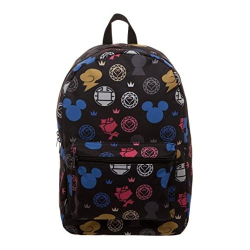 e52d6e77b7 Disney Kingdom Hearts II Licensed Sublimated Print Backpack School Book Bag