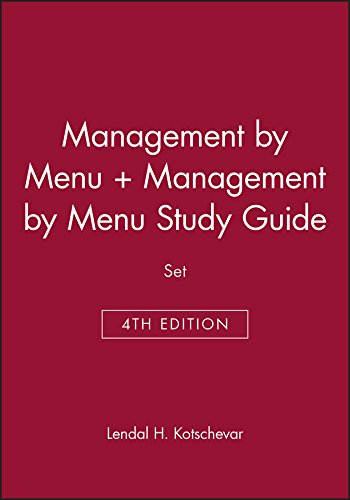 Management by Menu + Study Guide: