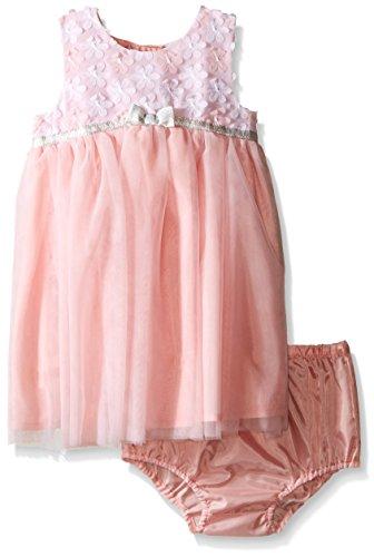 Little Me Baby Girls' Mesh Dress and Panty Set, Light Pin...