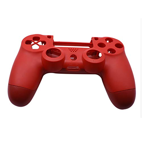 Xingsiyue Replacement Grip Housing Case Front Back Shell Anti Scratch Cover for Sony PS4 Pro 4.0 / PS4 Slim / PS4 12XX Controller (Red)