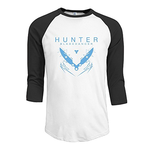 LQYG Men's Three Quarter Sleeve Tshirts - Hunter Black
