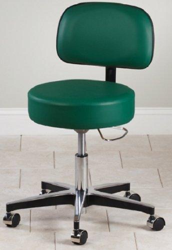 Clinton 5 Leg Pneumatic Adjustable Therapist Exam Stool Chair w/ Backrest
