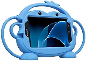 Kids Case for Samsung Galaxy Tab 3/3 Lite/4/E Lite 7.0 inch Tablet - CHINFAI [Double-Faced Monkey Series] Shock Proof...