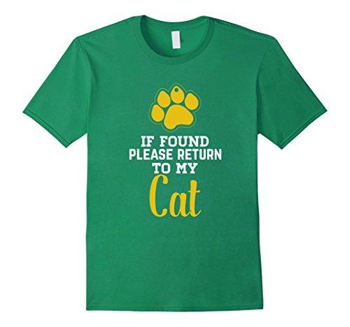Buy cheap mens found please return cat tee lost and shirt medium kelly green