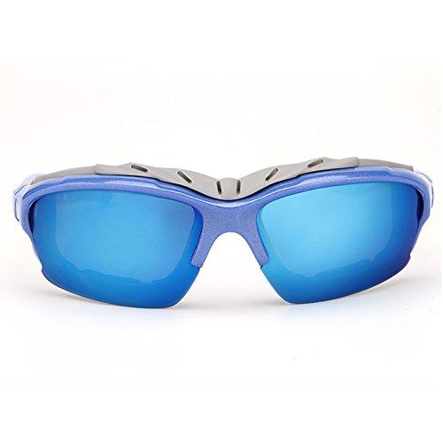para Hombres UV400 polarizadas protección de Gafas Gafas Sol Sol blue Gafas de Vuelo XZP clásicas de Blue de de Ciclismo I4qT8txpw