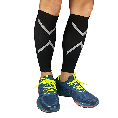 New ProductCalf Compression Sleeve, JAMIK Footless Socks Shin Splint / Leg Compression Sleeves Calves & Leg Cramps for Runners (1 Pair) by Generic